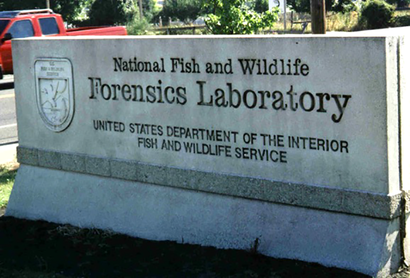forensic lab exterior sign